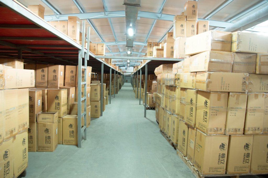 skladiščenje blaga v skladišču