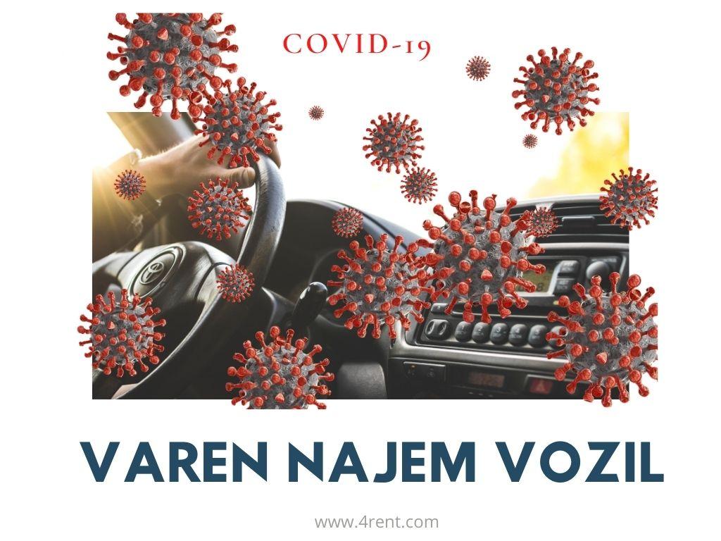 Varen najem vozil v času korona (Covid-19) krize.